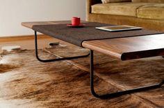 thedesignwalker: modern walnut coffee table