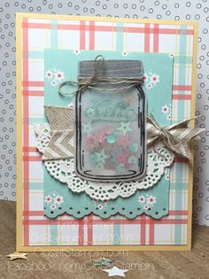 Jars of Love by Stampin' Up! is featured for this country-esque card! Closet Stampin' With Jayme Ziemer: Time flies! Time for TSOT 277!