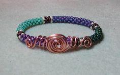 Beaded Wire Twirl Bangle Pattern at Sova-Enterprises.com