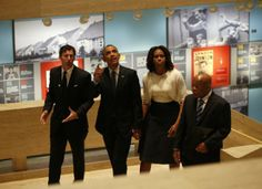 President Obama and First Lady Michelle Obama tour the LBJ Presidential Library with Rep. John Lewis and LBJ Presidential Library Director Mark Updegrove Civil Rights Bill, Great Society, Presidential Libraries, American Presidents, African American History, Democratic Party, Michelle Obama, Barack Obama, John Lewis