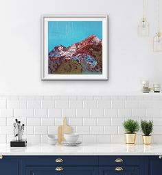 Kitty Dörje | View Of Table Mountain - Art prints for the home | StateoftheART Wall Art Prints, Fine Art Prints, Veggie Art, Fine Art Photo, Kitchen Art, Green Kitchen, Country Kitchen, Kitchen Interior, Kitchen Decor