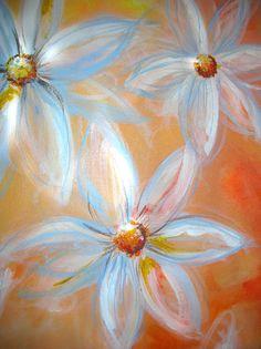 Daisy Painting (Acrylic on Canvas)