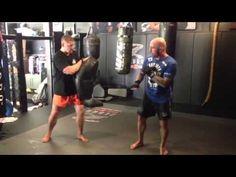 Joe Rogan with Duane Ludwig explaining/demonstrating a lead leg side kick into spinning side kick. #JRE #MMA #SideKick