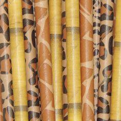 Safari Paper Straws-Giraffe, Leopard, Cheetah, Bamboo Birthday Straws | The Iced Sugar Cookie