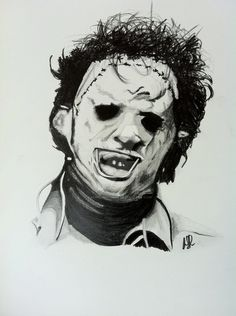 the texas chainsaw massacre leatherface drawing graphite