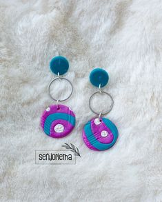Bridesmaid Earrings, Bridesmaids, Personalized Bridal Party Gifts, South African Artists, Pretoria, Purple Teal, Polymer Clay Earrings, Jewelry Trends, Wearable Art