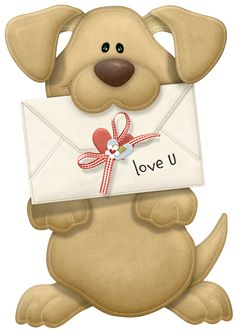 Picture Love Valentine'S Dog Valentine You Puppy, Clipart Png, Cute Clipart, Cute Images, Cute Pictures, I Love You Pictures, Image Transparent, Scrapbooking, Cute Teddy Bears, Love Valentines