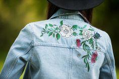 #embroidery #embroideredjeans #jeansjacket #hat #boho #bohemian #fashion