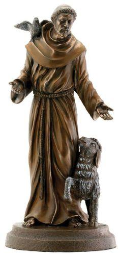 Saint Francis Bronze Religious Christian Catholic Statue