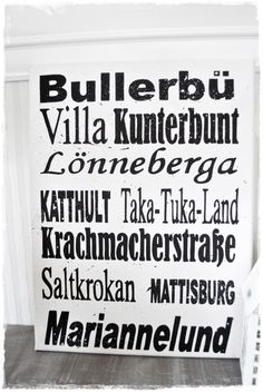 Bild 'Kindheitseinnerungen' Astrid Lindgren // Print 'Childhood memories' by lillemelle via DaWanda.com