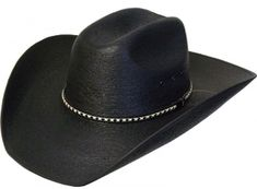 14b3ac9570c55 This Fine Sahuayo Palm Truman 1000X Black Straw Cowboy Hat is a high  quality 1000x straw