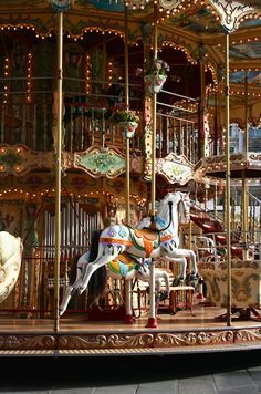 Luv carousels. Reminds me of Coney Island when I was just a little girl! They always bring out the child in me!