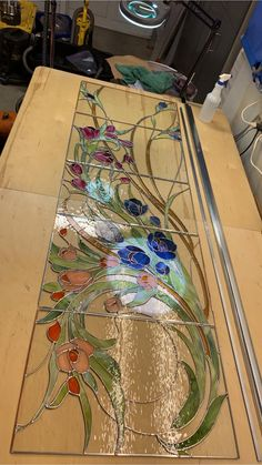Stained Glass Paint, Making Stained Glass, Stained Glass Flowers, Stained Glass Designs, Stained Glass Panels, Stained Glass Projects, Stained Glass Patterns, Leaded Glass, Mosaic Art