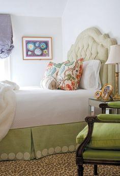 bedskirt, leopard rug, pillows and headboard! Bedroom Carpet, Bedroom Bed, Girls Bedroom, Bedroom Decor, Taupe Bedroom, Bedroom Designs, Leopard Carpet, Leopard Rug, Pretty Bedroom