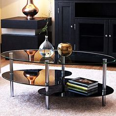 Morden Oval Top Coffee Table Sofa Side End Accent Table Living Room Furniture
