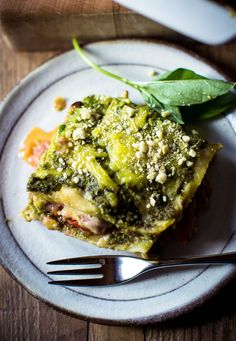 Vegan Lasagne with Lentils & Spinach Pesto - Rebel Recipes