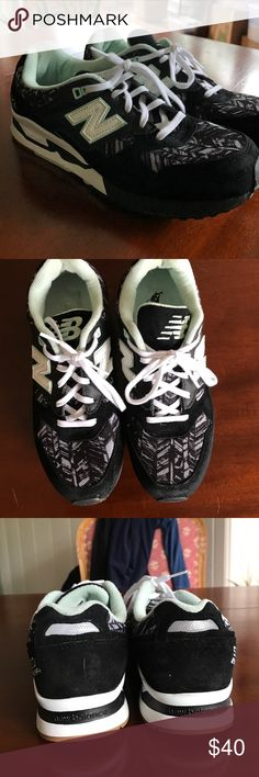 new balance black and aqua size 10! worn once or twice. super comfy size 10 Shoes Athletic Shoes
