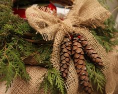 Rustic Christmas - Love decorating christmas presents creatively like this. :)