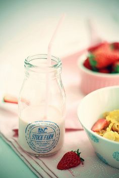 Strawberry Milk by *bossacafez, via Flickr