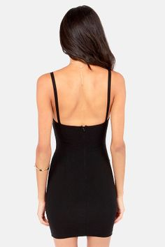 Girl on Fire Black Bodycon Dress at LuLus.com!