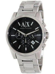 a77b4edbe8e Armani Exchange Chronograph Black Dial AX2084 Mens Watch