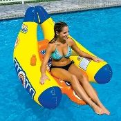World Of Watersports WOW Big Banana Pool Lounge with Cup Holders