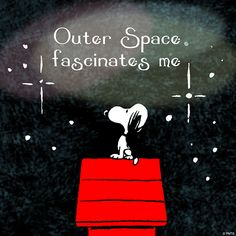 "Astrophotos snoopy - ""Outer Space fascinates me. Snoopy Love, Snoopy And Woodstock, Peanuts Cartoon, Peanuts Snoopy, Peanuts Characters, Snoopy Quotes, Joe Cool, Frases Humor, Peppermint Patties"