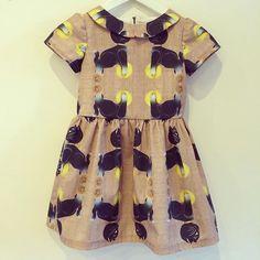 Finished!! This dress Will catch my eye, all day!!  #bambiblauw #demelkbrigade #sewingforgirls #lovingfabrics