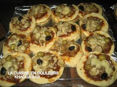 mini-pizzas au poisson et aux crevettes