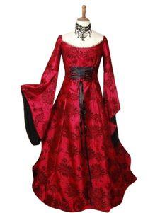 3d9e103a34 Halloween Renacimiento vestido medieval poliester amarillo Traje Cosplay  Halloween