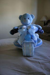 Possum Crafts: Nappy Cake - Motorcycle (Boy)