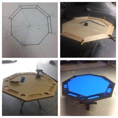 Homemade poker table. Under $150. #pokertable #octagon