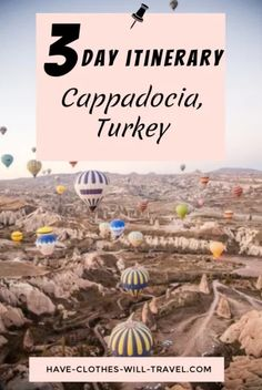 3 Days in Cappadocia, Turkey - The Ultimate Itinerary // From the magical hot air balloons to the fairy chimneys, horseback riding, wine tasting and more - this itinerary has something for everyone! Also offering accommodation suggestions | cappadocia travel guide | cappadocia turkey hot air balloon | cappadocia turkey photography | #cappadocia #turkey #goreme #hotairballoons Europe Destinations, Amazing Destinations, Best Places To Travel, Cool Places To Visit, European Travel, Asia Travel, Travel Guides, Travel Tips, Travel Advice