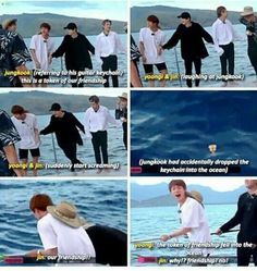 They acts as if Kookie's keychain had no meaning but when something happens to the keychain( their friendship), they care!!