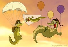 Flying crocs by S.T. Lewis