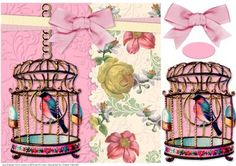 Victorian Bird in a Cage on Craftsuprint - View Now!