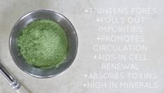 Learn the benefits of french green clay and how to make a DIY French Green Clay Mask with aloe vera gel and lavender essential oil. Tighten Pores, Green Clay, Clay Masks, Aloe Vera Gel, Natural Living, Benefit, Clays, French, Natural Products
