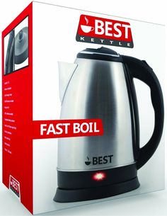 Orbit Stainless Steel Electric Kettle Small 0.5L Hot Water Tea Kitchen 220 VOLT