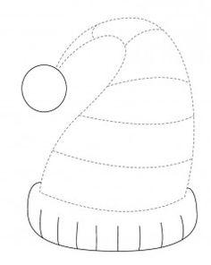 winter hat trace line worksheet (2)