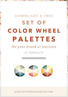 Click through to download your free set of color wheel palettes for your…
