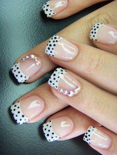 Uñas con puntos Manicure Y Pedicure, Nail Art, Nails, Beauty, Nail Ideas, Google, Diy, Finger Nails, Creative Nail Designs