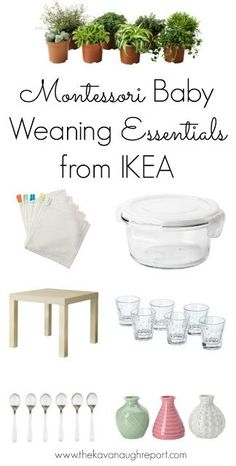 Montessori baby weaning essentials from IKEA. Here are some essentials for starting solids with your baby that can be found cheaply at IKEA.