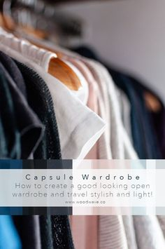 Capsule Wardrobe - Stylish and minimal! The 5 main keys that will make your wardrobe look sorted! Plastic Hangers, Wooden Hangers, Open Wardrobe, Capsule Wardrobe, Materials And Structures, Declutter Your Mind, Surfer Style, Big Jewelry, Cheap Purses