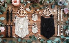 Deathly Hallows Dreamcatcher | Wizard Decor | Wizarding Decor | Wizard Gift | Wizarding Gift | Macra