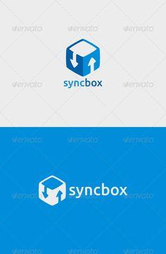 Sync Box Logo by descarteshouston Sync Box Logo A simple logo template suitable for a server, website, storage, service, etc. Features:- Vector format- File forma