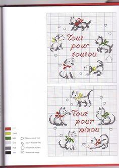 04 05 11 grille de point de croix gratuite chien un - Grille un feu orange combien de point ...