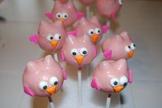 Pink+Cake+Pops   Pink Owl Cake Pops