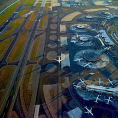 Seen From Above: Jeffrey Milstein Captures the Art of Airport Design (this is, of course, beautiful Downtown Newark...)