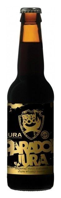 Cerveja BrewDog Paradox Jura, estilo Wood Aged Beer, produzida por BrewDog, Escócia. 15% ABV de álcool.