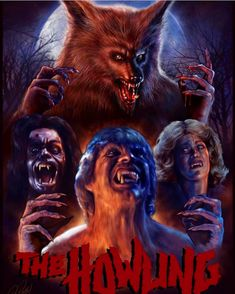 ✔️💯👉🏻There was howling just a minute ago. Best Werewolf Movies, Werewolf Art, Horror Icons, Horror Films, Evil Eye Art, Dog Soldiers, The Howling, Vampires And Werewolves, Movie Poster Art